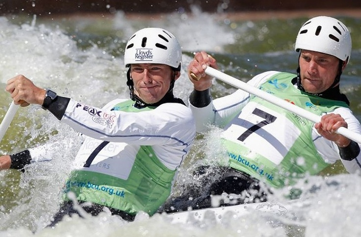 David Florence & Richard Hounslow. Canoe Slalom.