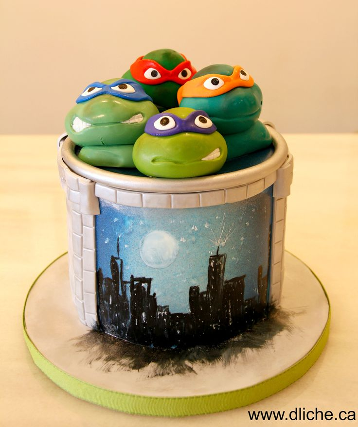 Tortues ninja sur ton gâteau!  TMNT on your cake!