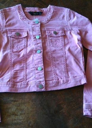 Kaufe meinen Artikel bei #Mamikreisel http://www.mamikreisel.de/kleidung-fur-madchen/outdoorbekleidung-jacken/27603968-jeansjacke-rosa-gr-134-140-tcm