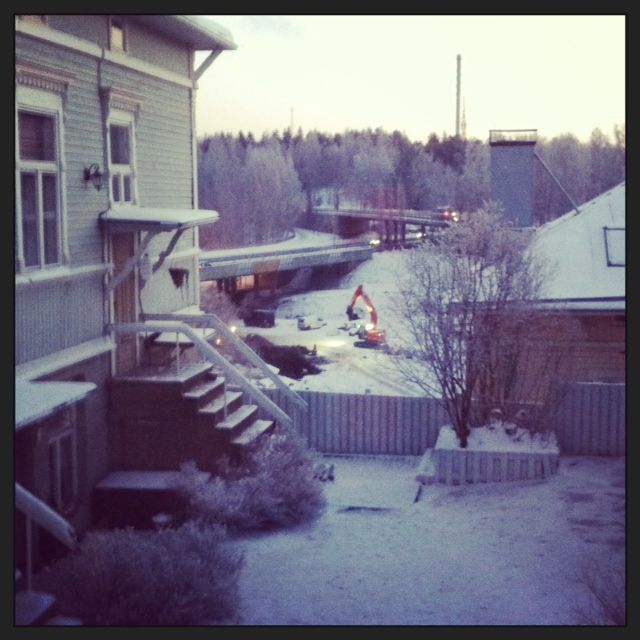 Finally there's winter outside my kitchen window in Armonkallio, Tampere, Finland. #tampereallbright #tampereblog