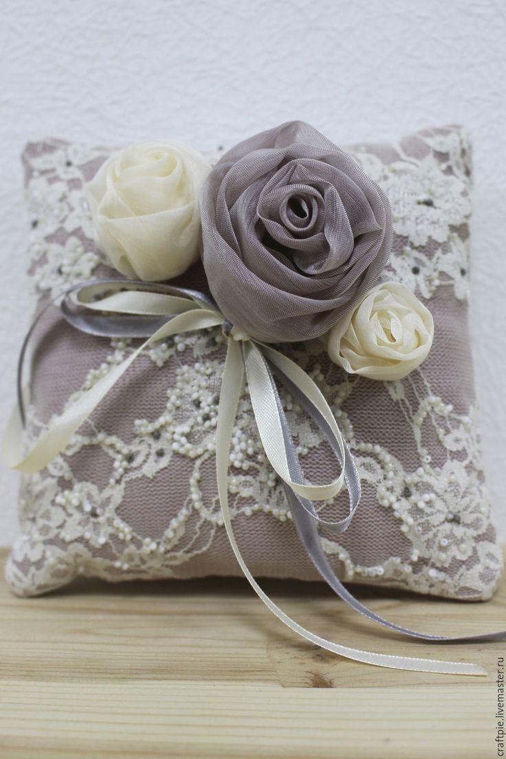 Подушечка для колец - бледно-сиреневый, свадьба, подушка для колец, подушечка для колец, свадебные аксессуары