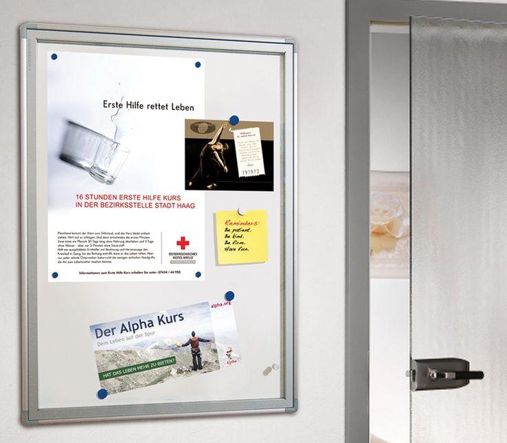 Plakatvitrine magnethaftend online kaufen - Schaukästen (Wand-Infosysteme) | eLook.shop