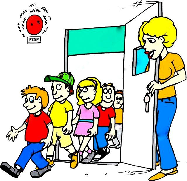 Fire drill (n) 1 a practice of the emergency procedures to be used in case of fire. 2 a primitive device for kindling fire, consisting of a pointed stick which is twirled in a hole in a flat piece of soft wood. Book3 pg 36