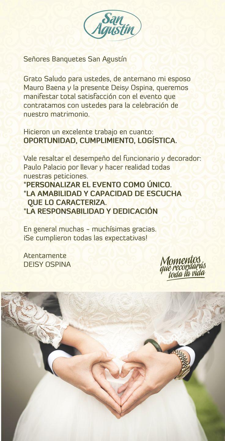 Hay momentos únicos en la vida en los que es indispensable contar con el mejor aliado para hacer realidad TU GRAN SUEÑO. En San Agustín TRABAJAMOS PARA QUE DISFRUTES MOMENTOS QUE RECORDARÁS TODA LA VIDA.  Nuestros clientes dan TESTIMONIO de nuestra RESPONSABILIDAD Y DEDICACIÓN.  #organizaciondeeventos #matrimonios #bodas #decoracion #primerascomuniones #fiestadequince #quinceañeras #especialistasenbodas #solucionesintegrales #tendenciasenmatrimonios #fiestas…