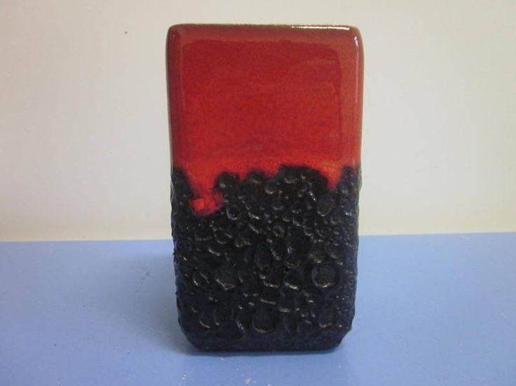 Jopeko German pop art vase lava WGP ceramic 60s 70s era Tschoerner rare design von Designclassics24 auf Etsy