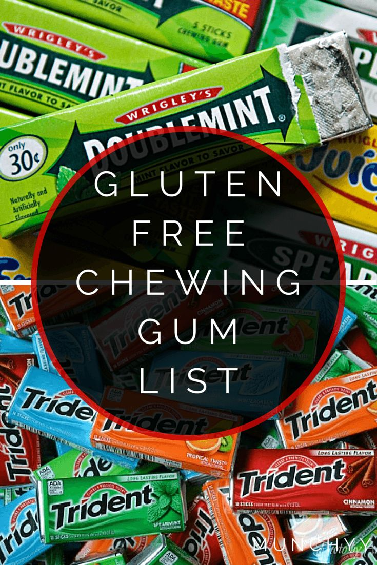 Gluten-Free Gum List | What to chew and what to avoid to keep you healthy.