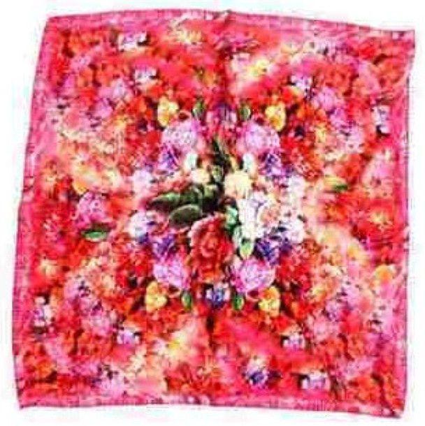 "20"" Square Small 100% Silk Scarf Women's Bandana Dress Shawl Wraps Red Sx79036-A"