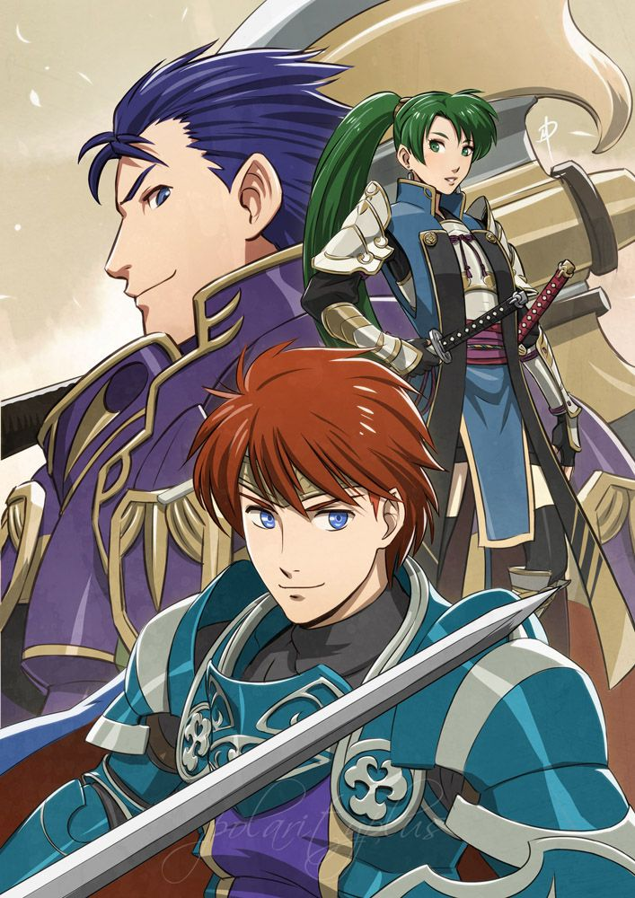 Fire Emblem - Blazing fates by polarityplus.deviantart.com on @DeviantArt. FE 7: Lyn, Hector and Eliwood. Awesome! They look so cool!