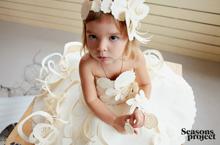 Seasons of life №9 / May-June issue #seasonsproject #seasons #kids #children #girl #white #paper #dress