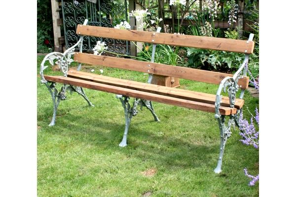 Restored #Antique Garden Bench | Vinterior London  #farrowandball #restoration #furniture #vintage #design #cottage