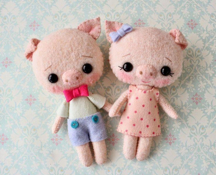 Gingermelon Dolls: A Sweet Pigling Pair