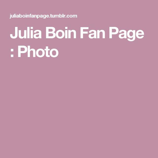 Julia Boin Fan Page : Photo