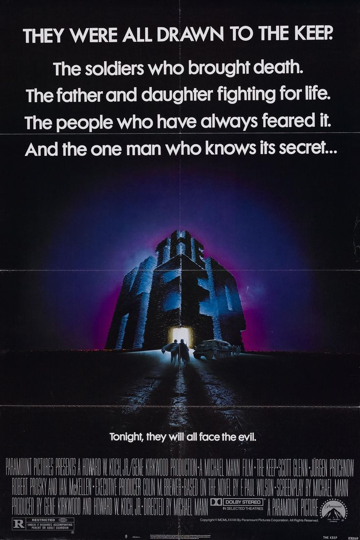 The Keep (1983) -One of Michael Mann's early films. The music and the atmosphere go perfectly together. Great early performances by Scott Glenn, Jurgen Prochnow and Sir Ian Mckellan.