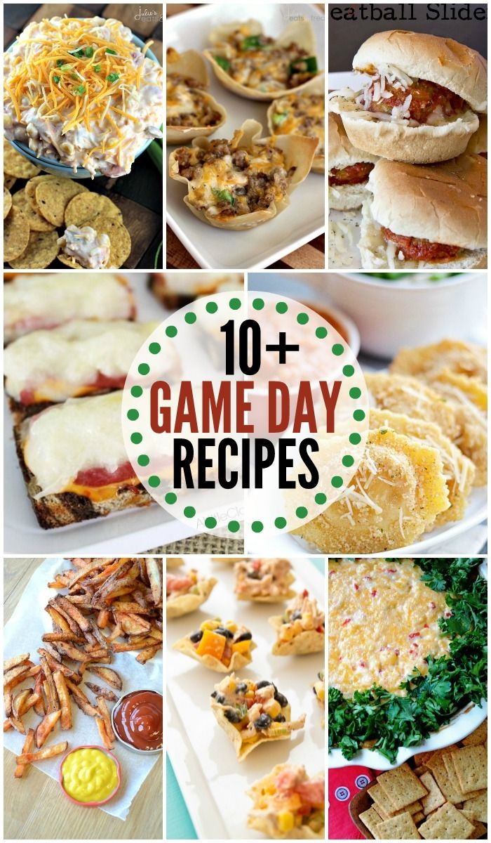 10+ Game Day Recipes perfect for game day parties! { lilluna.com }