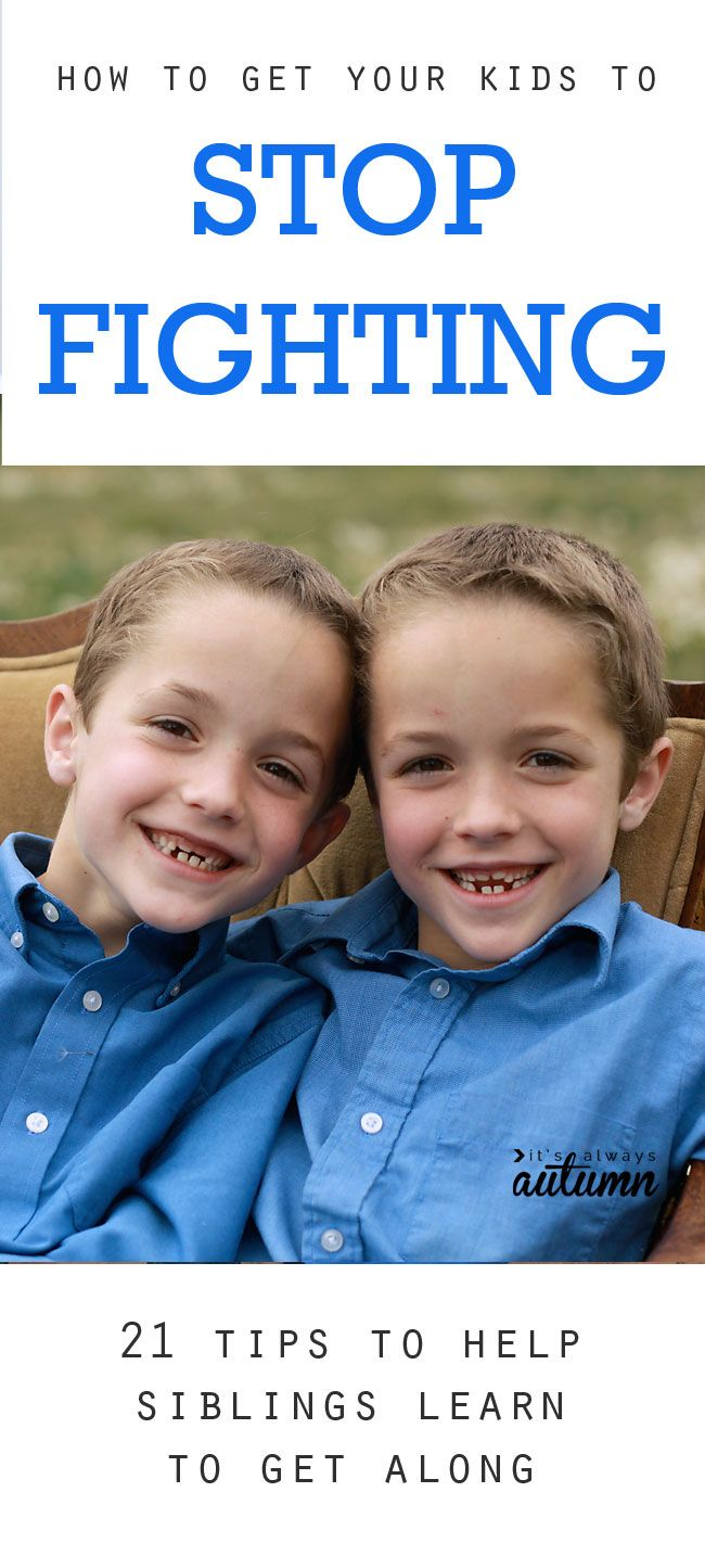 great tips for how to get your kids to stop fighting - I want to try #18! stop sibling fights