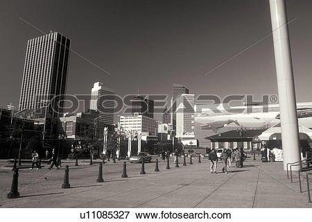 atlanta, ga, géorgie, en ville, horizon, souterrain, atlanta, noir blanc Voir Image Grand Format