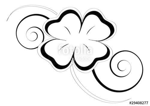 Oltre 25 fantastiche idee su tatuaggi di quadrifoglio su - Immagini di quadrifoglio a quattro foglie ...