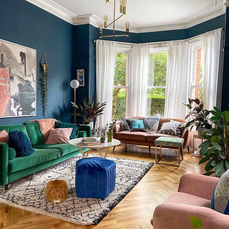 Hague blue living room, living room ideas, living room ...