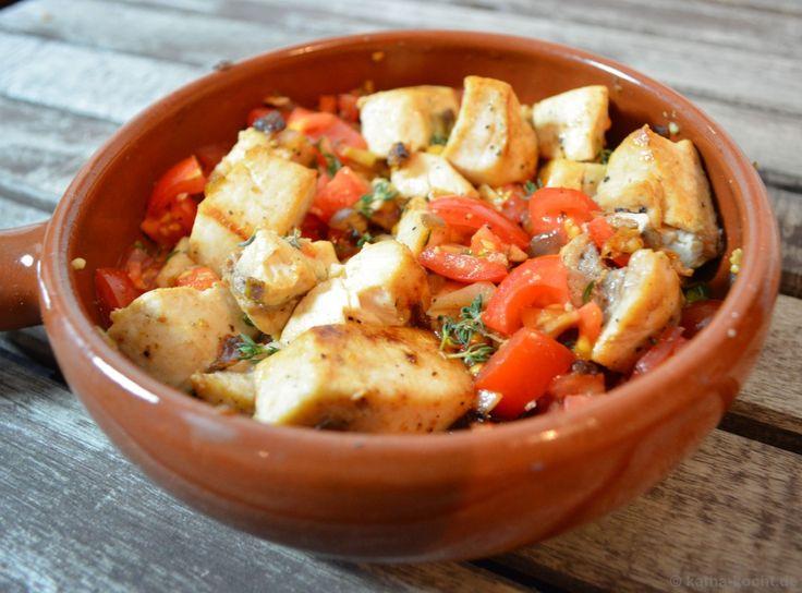 Tapas - Schwertfisch mit Tomaten und Sherry - Katha-kocht!