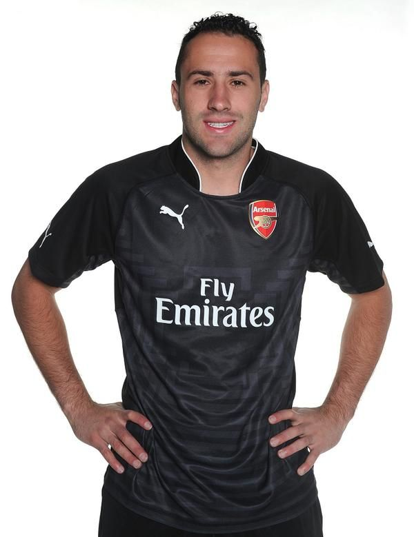 David Ospina with the new Arsenal kit