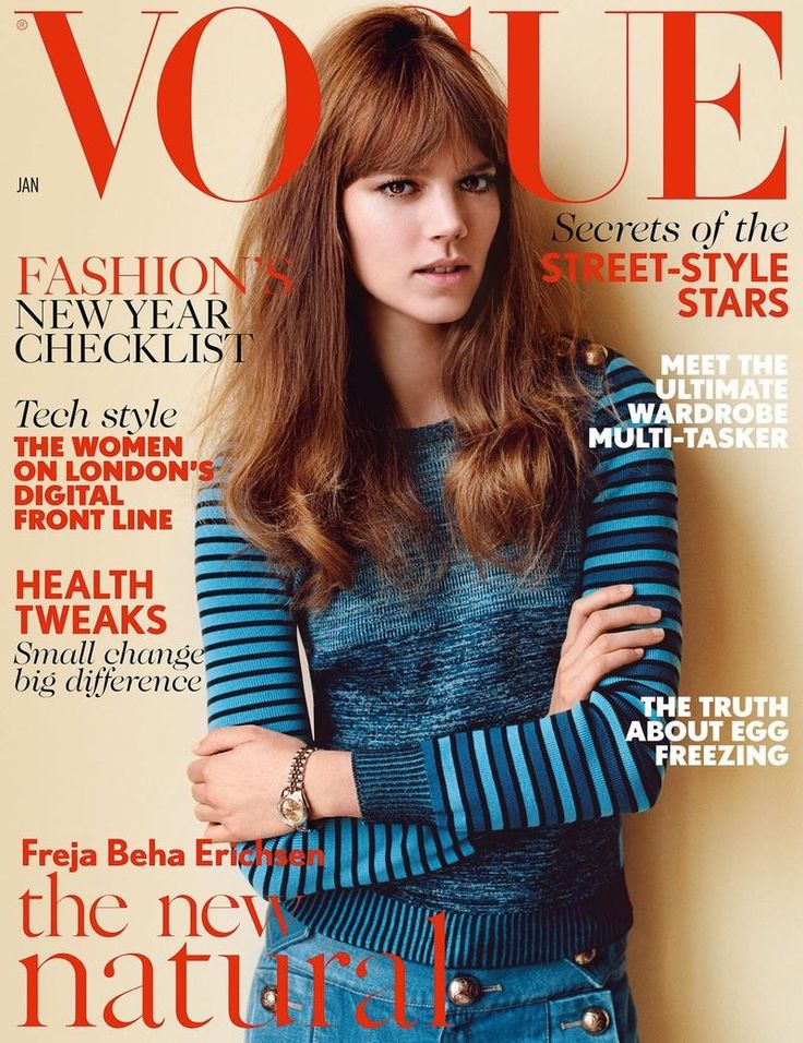 British Vogue January 2015 Cover (British Vogue). Alasdair McLellan - Photographer. Francesca