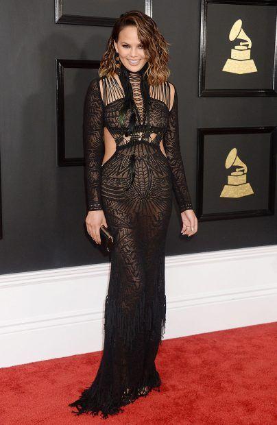 Chrissie Teigen, Grammys Red Carpet 2017