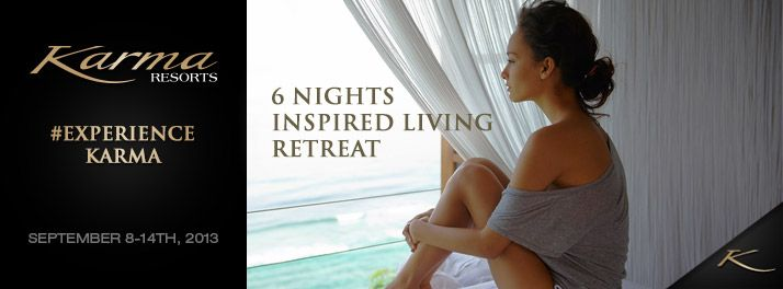 A not-to-be-missed personal development program thoughtfully designed to support your quest to accomplish personal challenges big and small, Karma Spa's 'Inspired Living' package includes a six-night retreat at Karma Kandara's stunning cliff-top resort.
