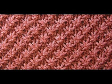 Strickmuster * Sterne* ideal fuer auch Anfaneger - YouTube