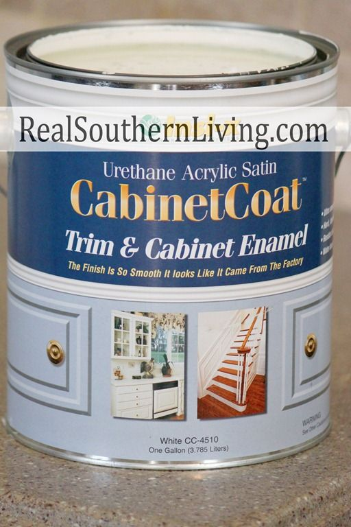Need to remember to use this paint when redoing my cabinets, stair railing, etc.