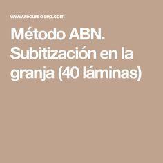 Método ABN. Subitización en la granja (40 láminas)