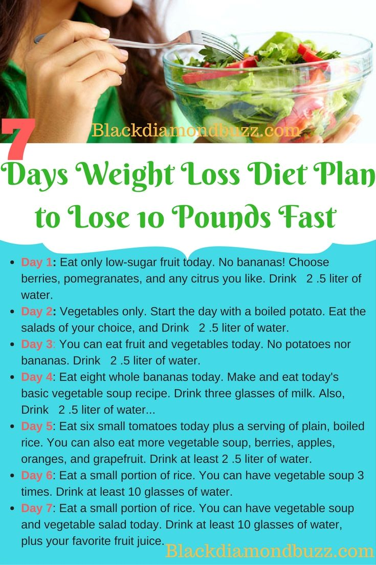 Weight Loss Program: How To Lose 10 Pounds In 10 Days With 7 Days Weight