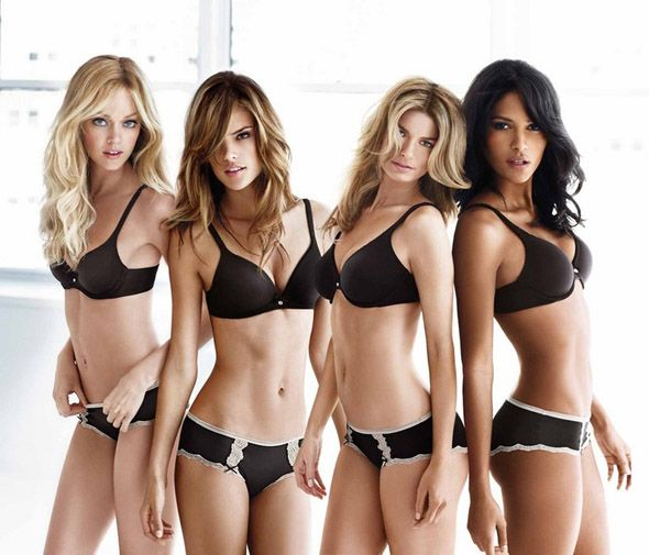 For the 10th anniversary of the Body By Victoria line, Californian Lindsay Ellingson and Brazil's Emanuela de Paula joined Victoria's Secret 'veterans' Alessandra Ambrosio and Marisa Miller  on a promotional tour.