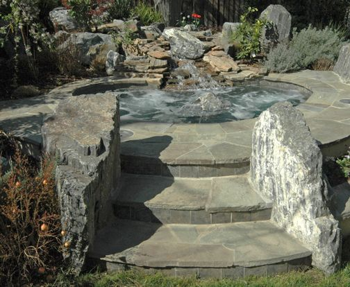rock hot tub so cool house poolsrock