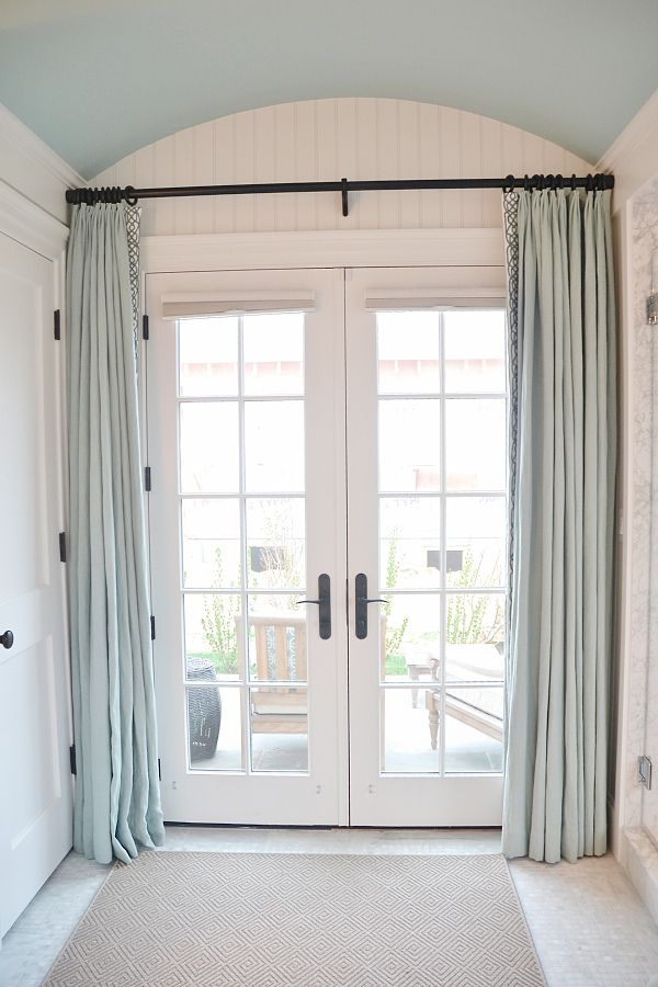 17 best ideas about french door curtains on pinterest. Black Bedroom Furniture Sets. Home Design Ideas