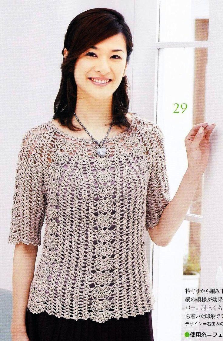 Blusas De Croche Prosecrochet Pink Rose Crochet Hawaii Dermatology ...