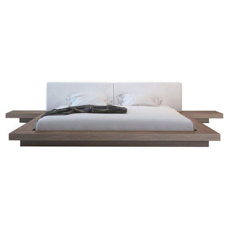 Modloft Worth Platform Bed, Size: California King - HB39A-CK-WEN-GRY