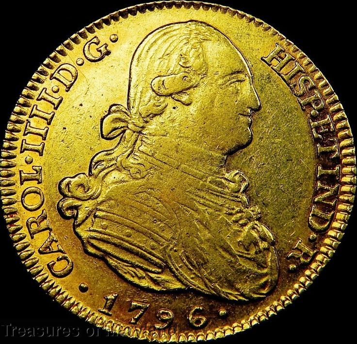 1796 Charles IIII SPANISH COLONIAL GOLD 4 ESCUDOS DOUBLOON sku #SE31