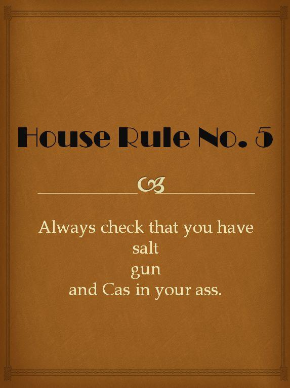 Regole della casa Winchester numero 5