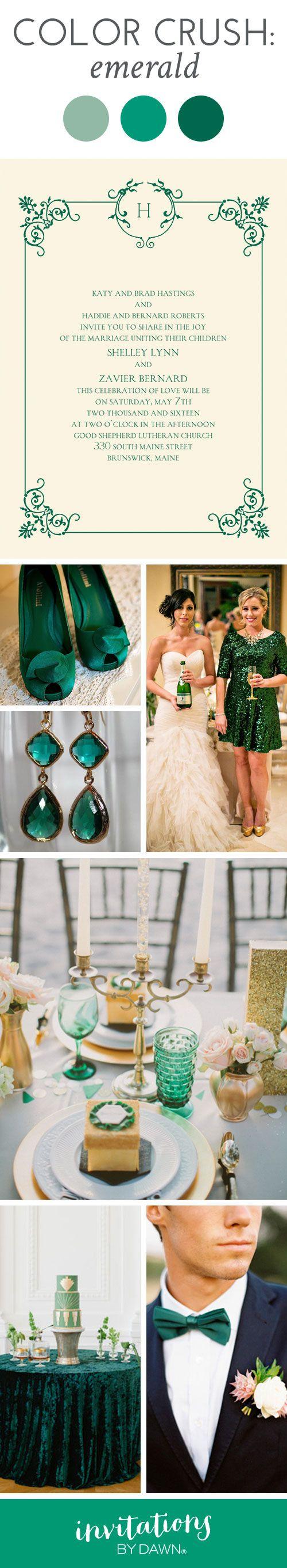 Wedding Color Crush: Emerald