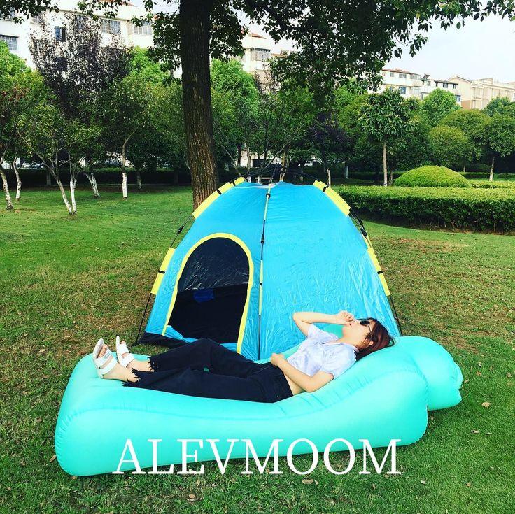 Inflatable Bed Portable Air Sofa Hammock Waterproof and