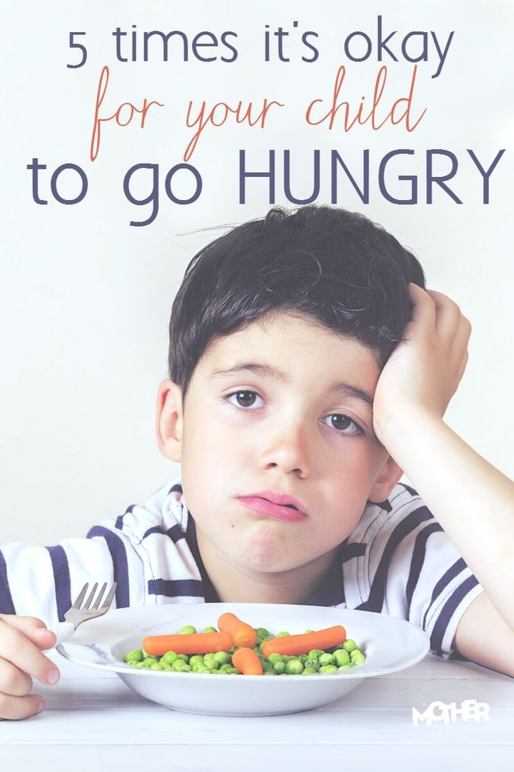 Do you have a picky eater? He refuses to eat meals but only wants to snack or eat junk food and sweets? Here are 5 times it is okay for your child to go hungry. Really. It is. Helpful for moms of toddlers and preschoolers particularly.