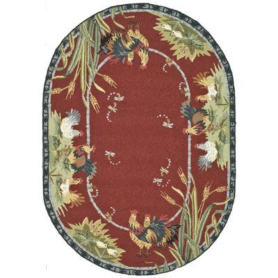 """August Grove Isabella Country Novelty Rug Rug Size: Oval 7'6"""" x 9'6"""""""