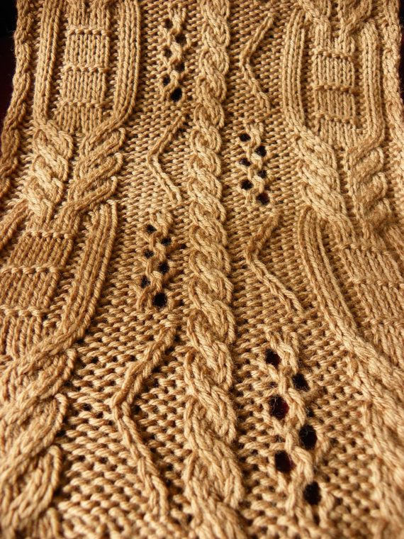 Pattern to Knit  Copious Cables Scarf DK by suelillycreations