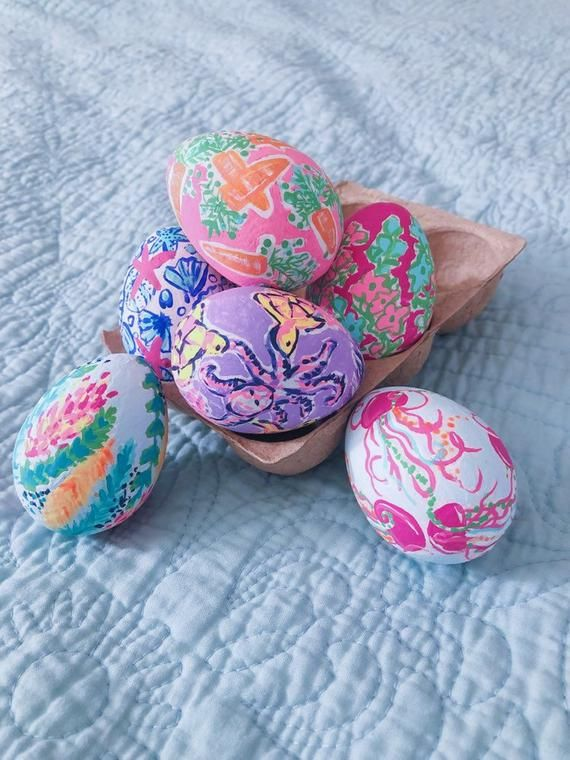 Lilly Pulitzer Inspired Set Of 6 Eggs Etsy Lilly Pulitzer Inspired Lilly Pulitzer Lillies