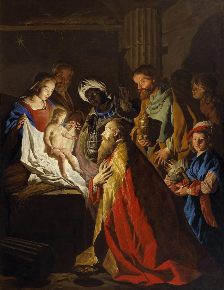 Adoration of the Magi / La adoración de los Reyes Magos // 17th century // Matthias Stom // #Christ #ChildJesus #Epiphany