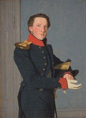"""""""Portrait of Naval Lt. Christen Schifter Feilberg"""" by Christen Købke (1834)"""
