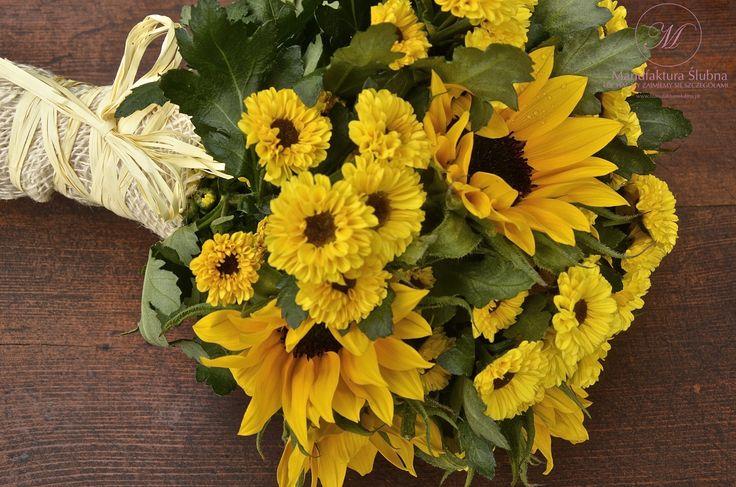 #bukiet #slubny #slubne #kwiaty #slonecznik #bouquet #idyllic #wedding #flower #sunflower #manufakturaslubna
