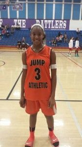 Sydney Caldwell of Jump Athletic -Caldwell is a player who excels in competitive games. When the game is on the line, I would want the ball in her hands. Her demeanor and composure are definite assets that you rarely see in someone this young. She is a big time baller and an exciting player to watch.