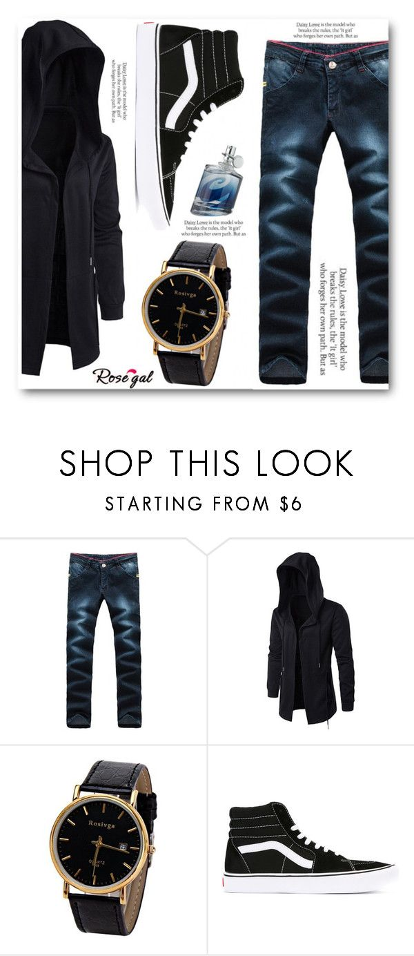 """""""Rosegal"""" by angelstar92 ❤ liked on Polyvore featuring Vans, ASOS, Liz Claiborne, men's fashion, menswear, casualoutfit, PROMNIGHT, man and rosegal"""