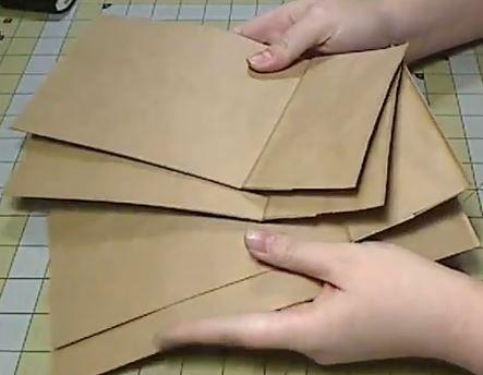 How to assemble a paper bag album